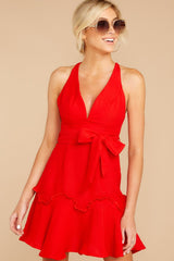 9 Hearts Aflame Red Dress at reddressboutique.com
