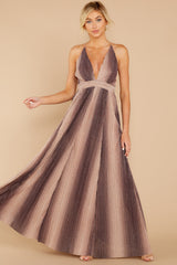 2 Throw Me A Kiss Mauve Multi Maxi Dress at reddressboutique.com
