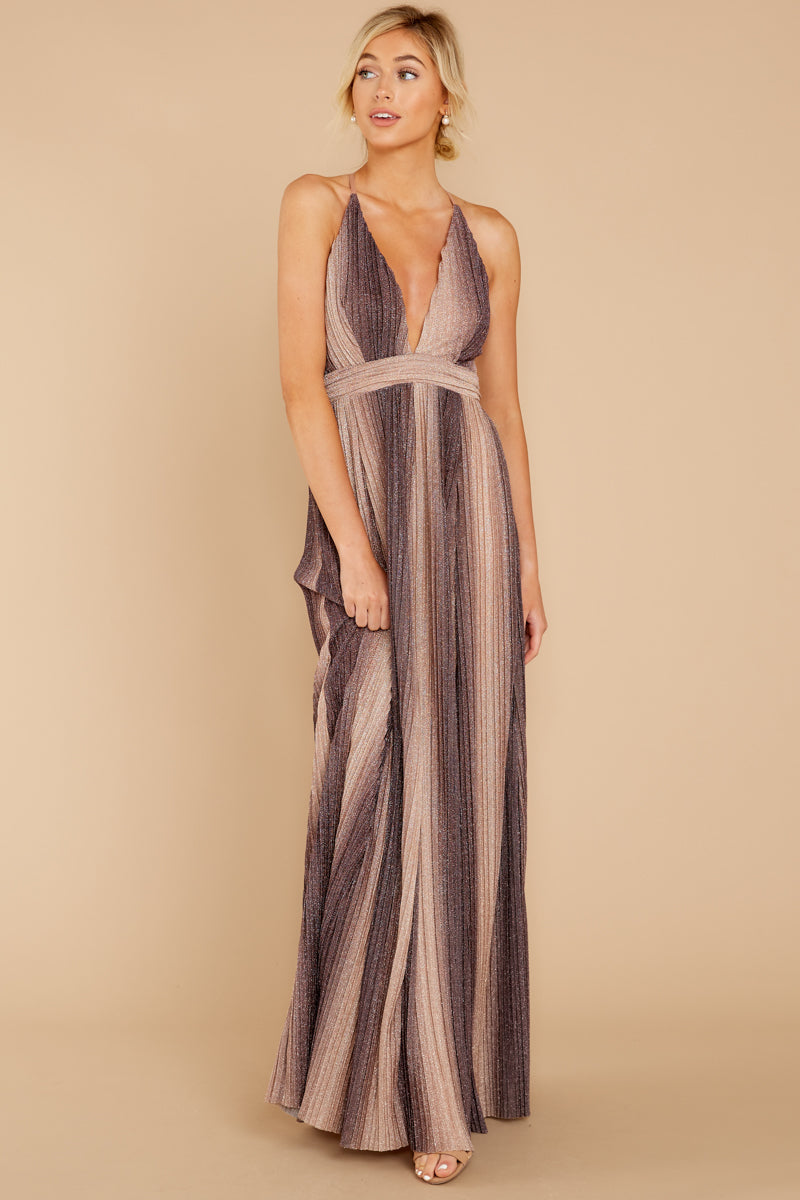 4 Throw Me A Kiss Mauve Multi Maxi Dress at reddressboutique.com
