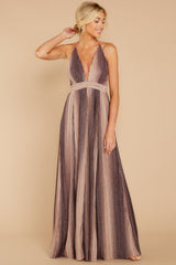 5 Throw Me A Kiss Mauve Multi Maxi Dress at reddressboutique.com