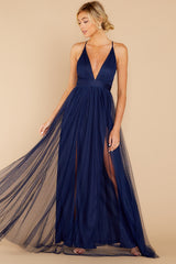 Matters Of The Heart Navy Maxi Dress