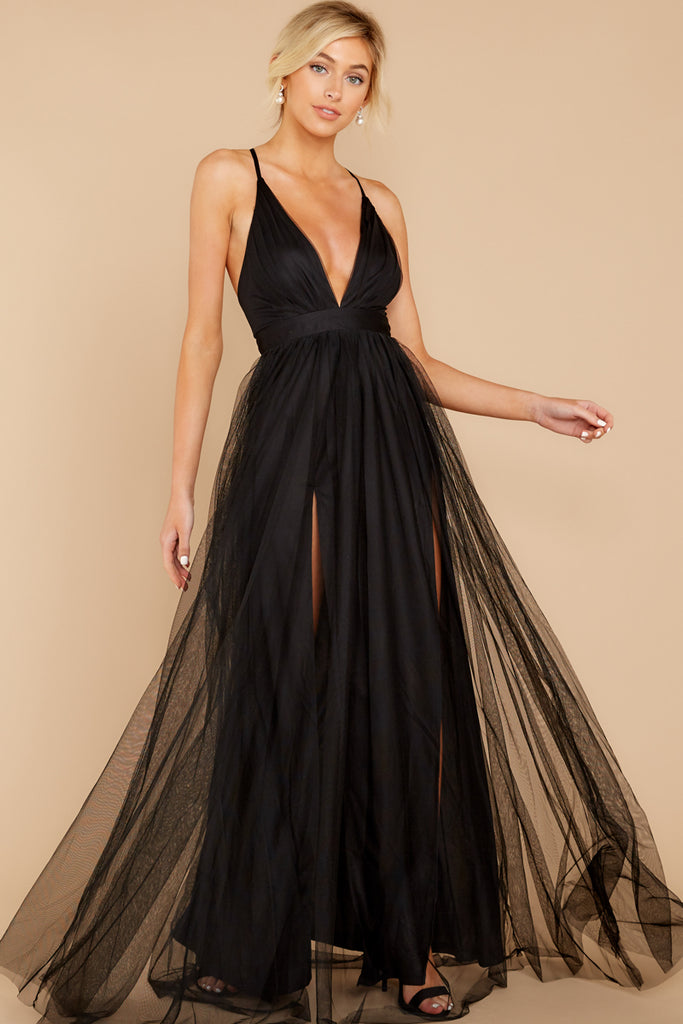 1 Above And Beyond Black Maxi Dress at reddress.com