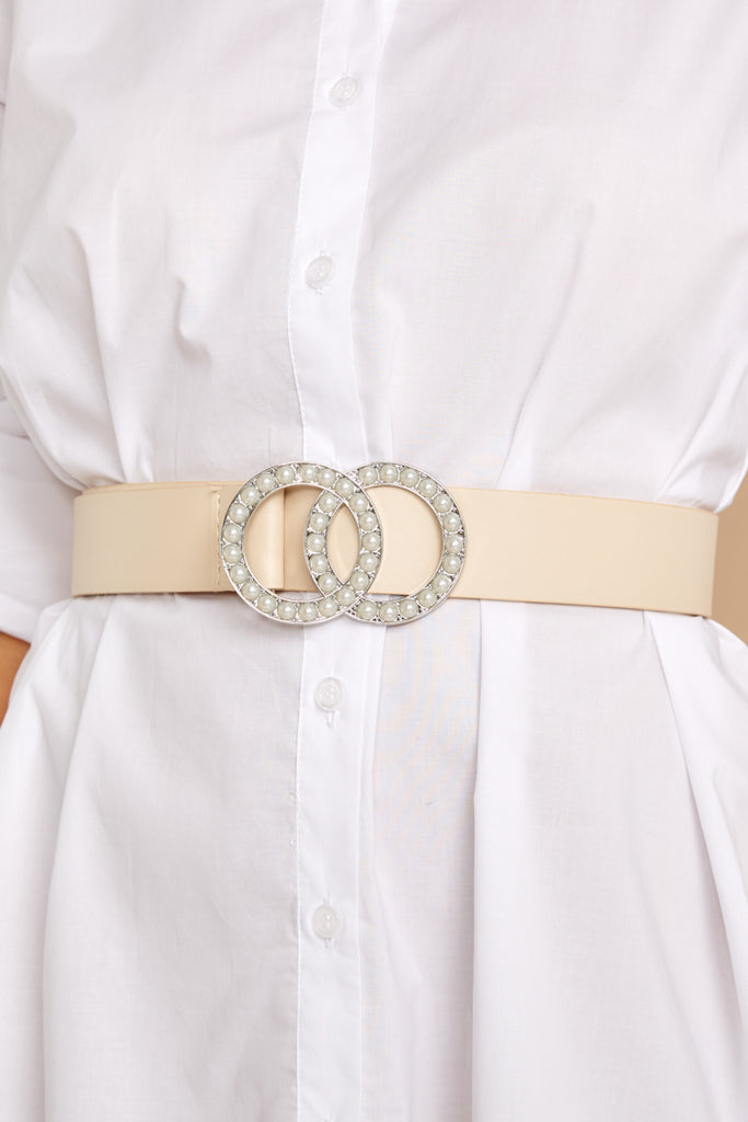 1 Bamboozle Them All White Belt at reddressboutique.com