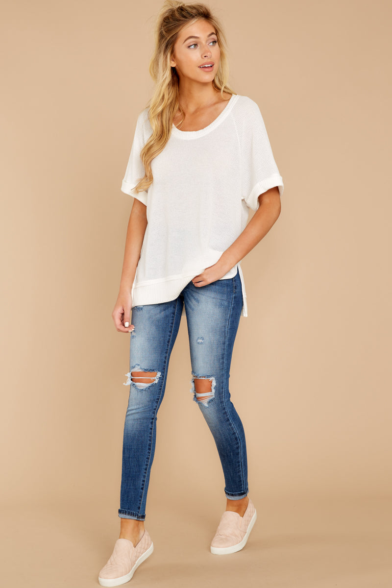 3 Dock On The Bay White Top at reddressboutique.com