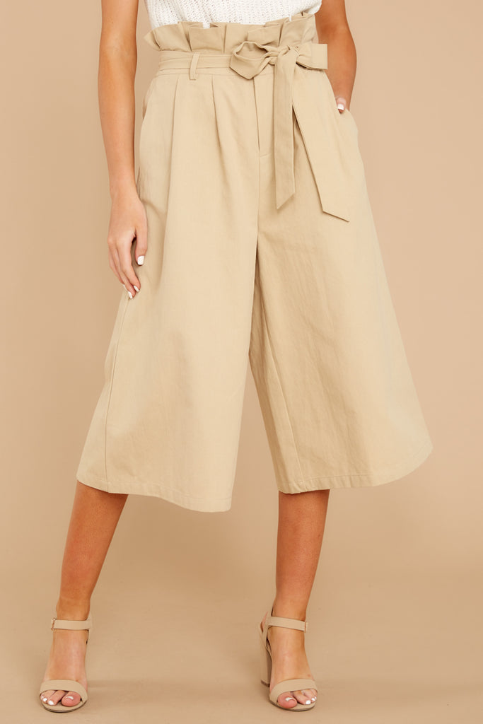 1 Wake Up Wonderful Beige Palazzo Pants at reddressboutique.com