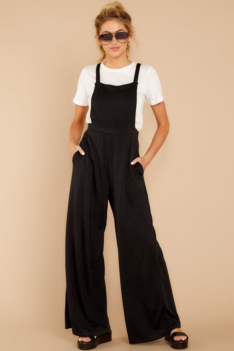 1 The Bib Front Black Jumpsuit at reddressboutique.com