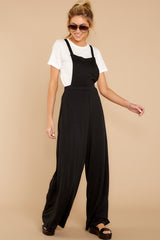2 The Bib Front Black Jumpsuit at reddressboutique.com