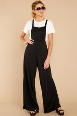3 The Bib Front Black Jumpsuit at reddressboutique.com
