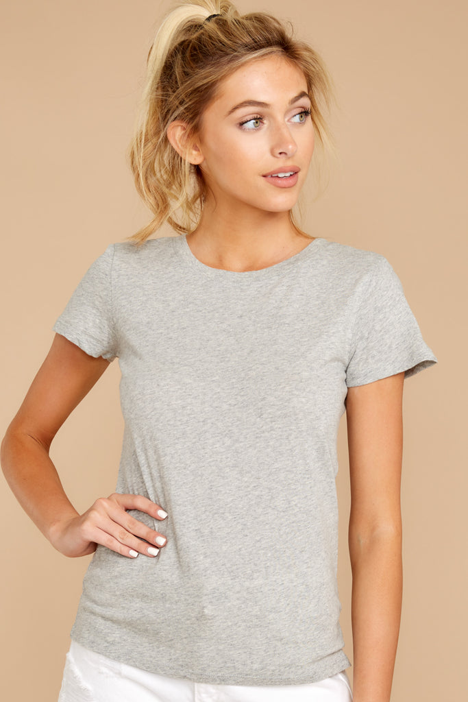 4 Weekender Sweater In Heather Grey at reddressboutique.com