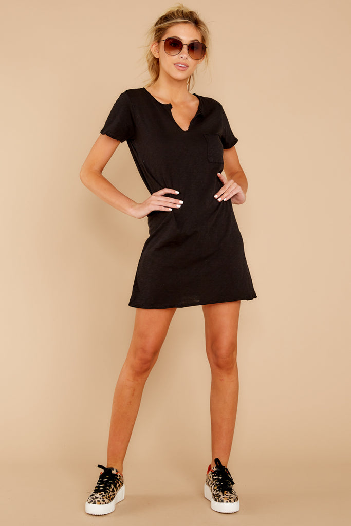 365755407c The Black Paige Cotton Slub T-Shirt Dress