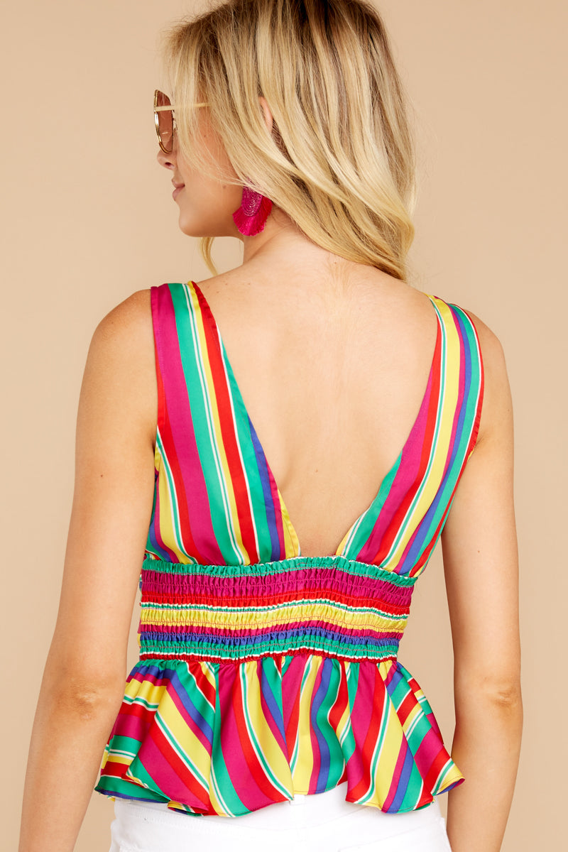 Your One And Only Rainbow Stripe Top