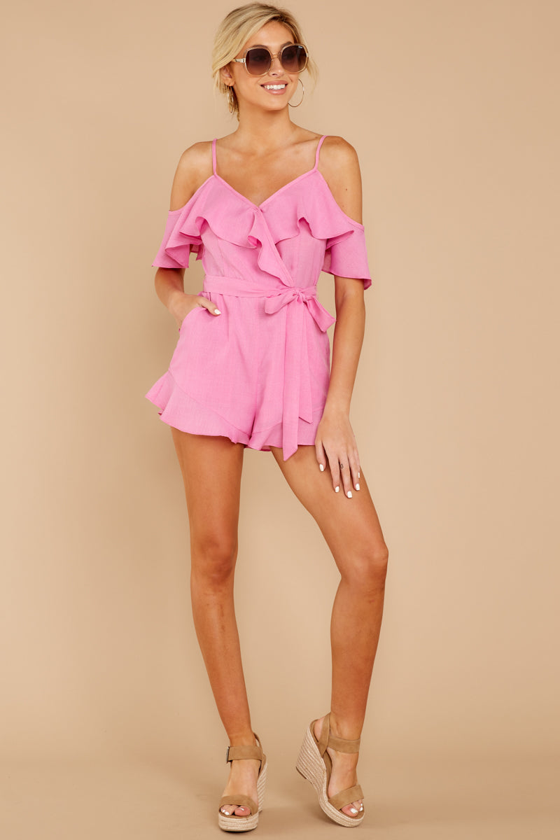 2 Ready For A Trip To The Coast Lilac Pink Romper at reddressboutique.com
