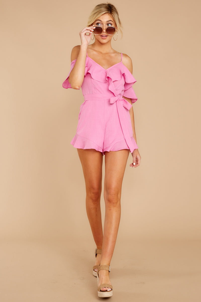3 Ready For A Trip To The Coast Lilac Pink Romper at reddressboutique.com