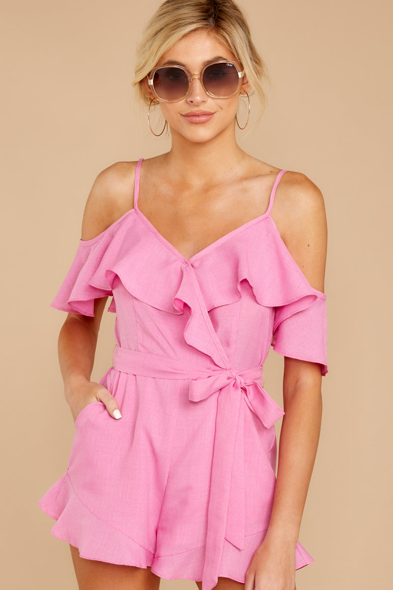 4 Ready For A Trip To The Coast Lilac Pink Romper at reddressboutique.com
