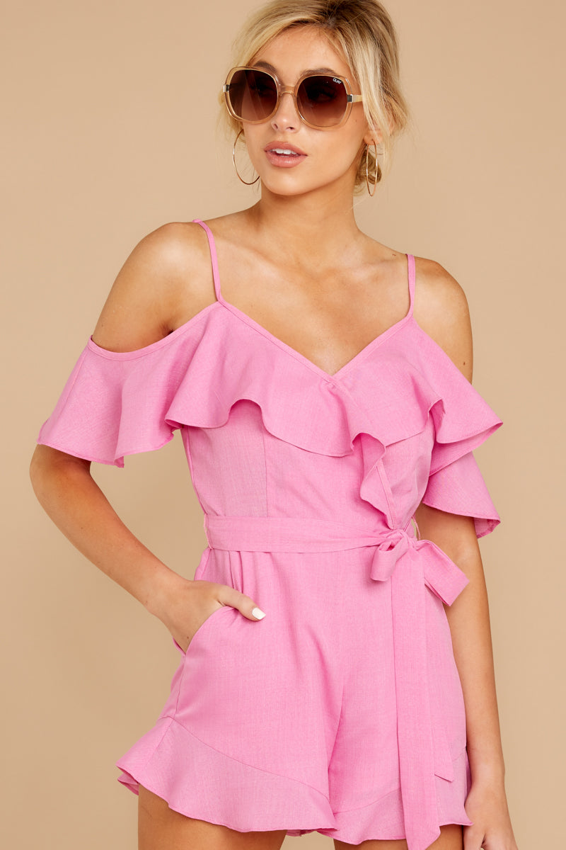 1 Ready For A Trip To The Coast Lilac Pink Romper at reddressboutique.com