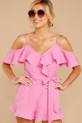 5 Ready For A Trip To The Coast Lilac Pink Romper at reddressboutique.com
