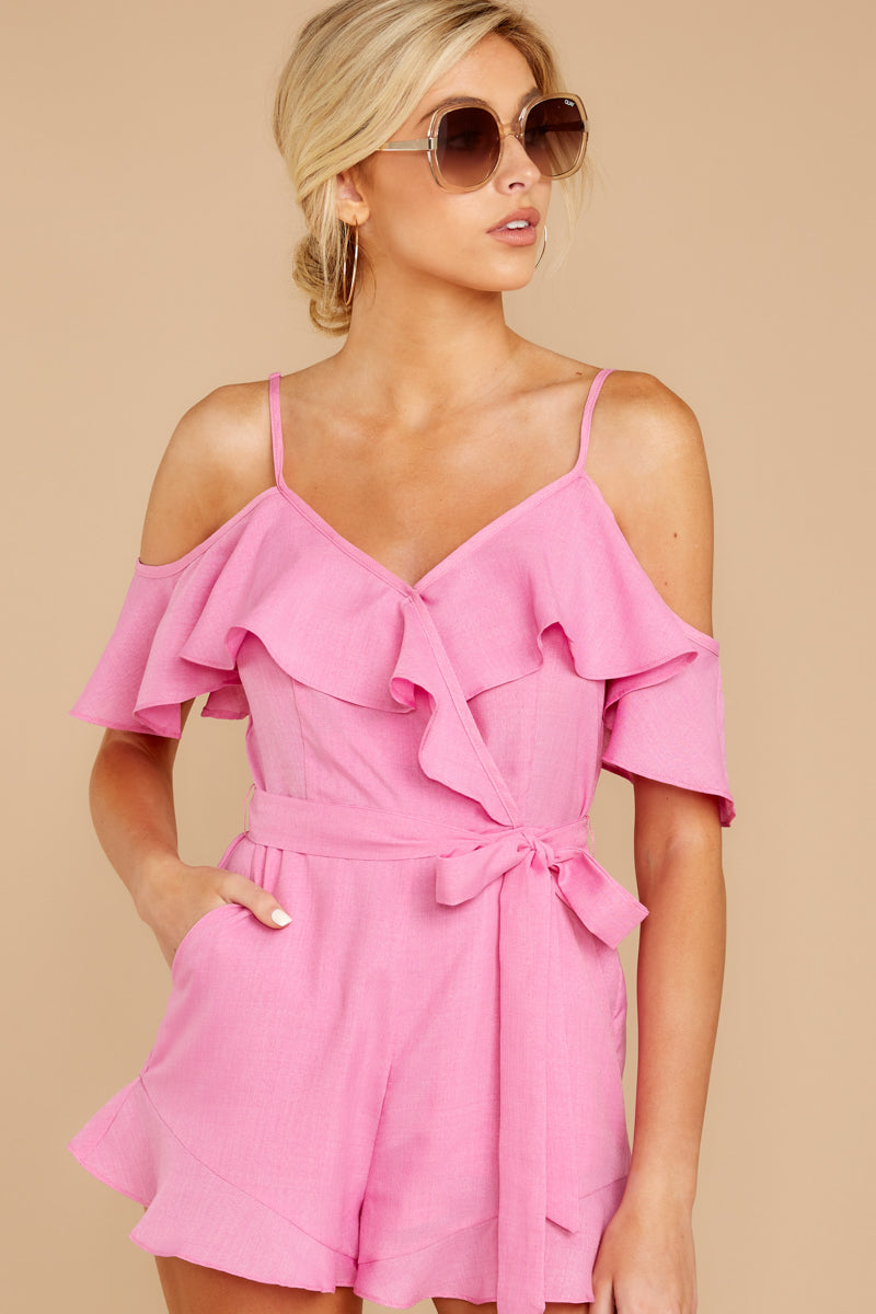 6 Ready For A Trip To The Coast Lilac Pink Romper at reddressboutique.com