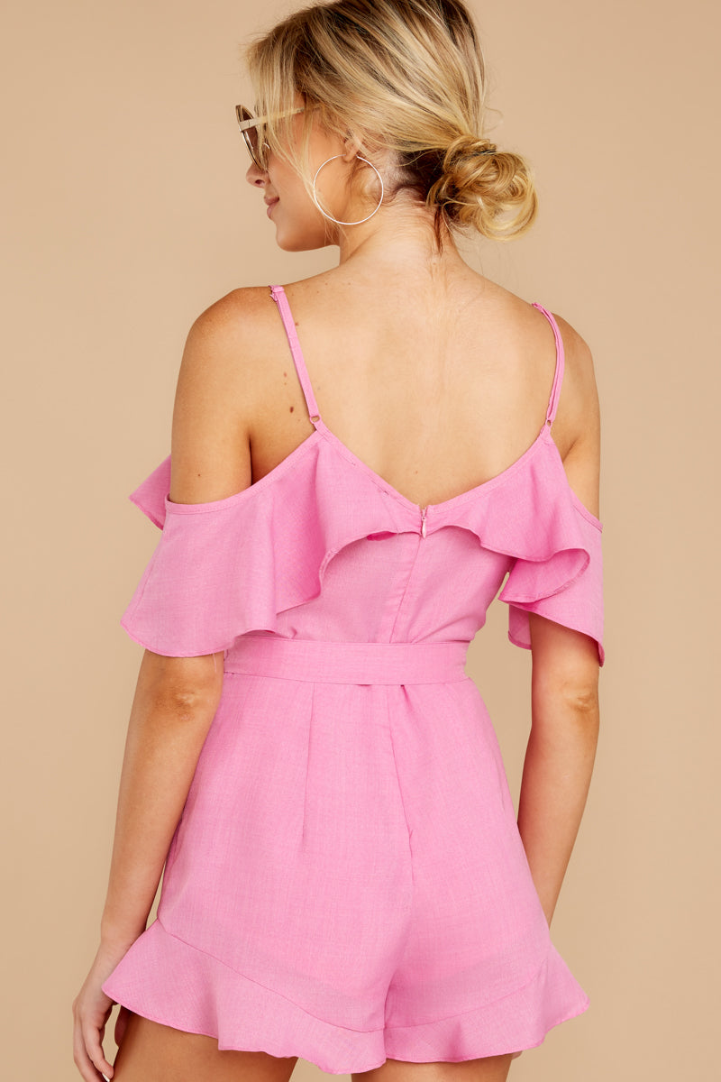 7 Ready For A Trip To The Coast Lilac Pink Romper at reddressboutique.com