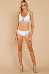 2 Surf's Up Light Blue Stripe Bikini Top at reddressboutique.com