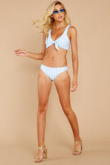 1 Surf's Up Light Blue Stripe Bikini Top at reddressboutique.com
