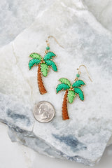 4 Going Coconuts Palm Tree Earrings at reddressboutique.com