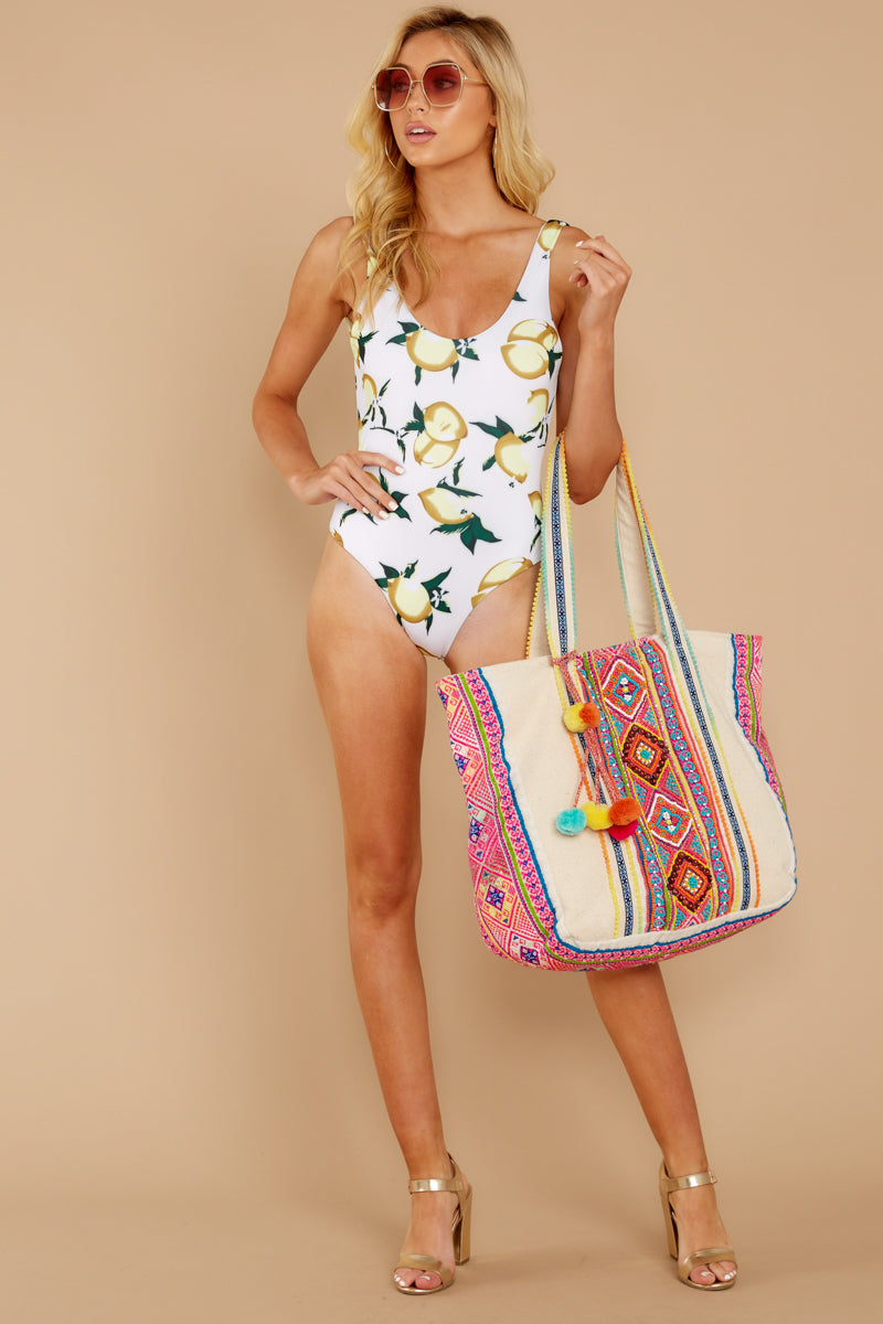 2 Feeling Salty Lemon Print One Piece at reddress.com