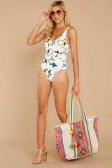 1 Feeling Salty Lemon Print One Piece at reddress.com
