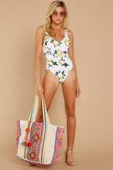 3 Feeling Salty Lemon Print One Piece at reddress.com