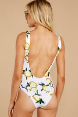 6 Feeling Salty Lemon Print One Piece at reddress.com