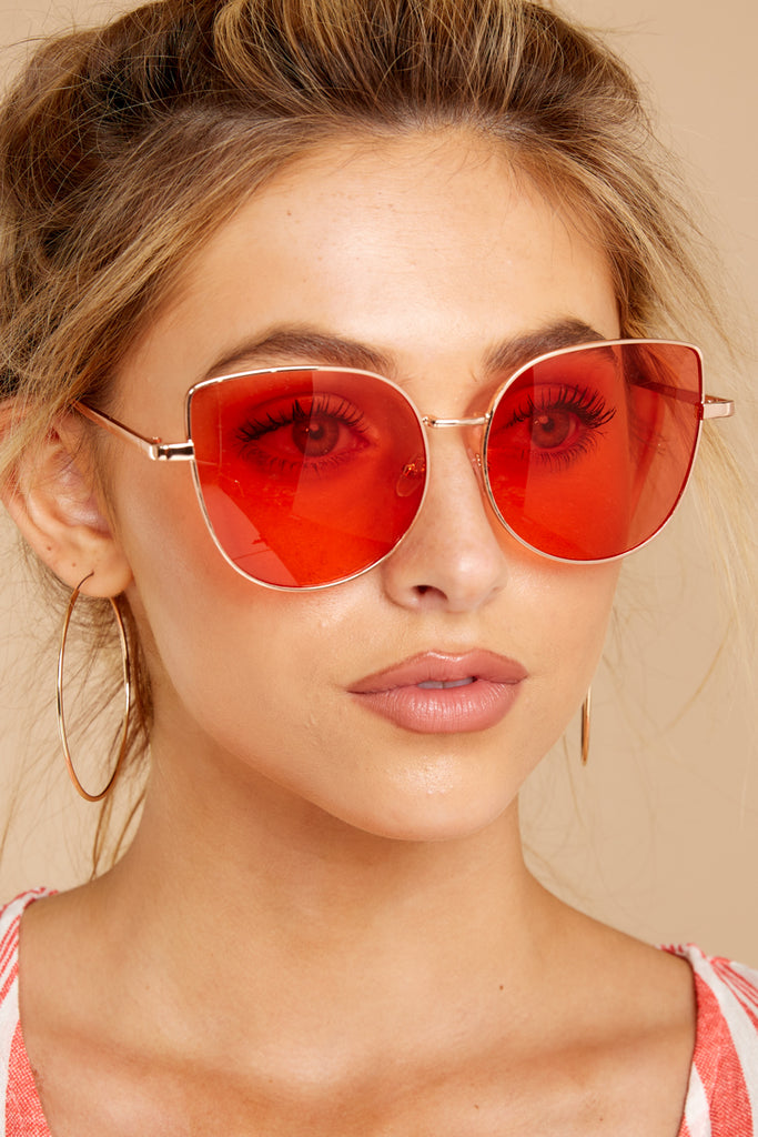 1 Here Today Red Fade Sunglasses at reddressboutique.com