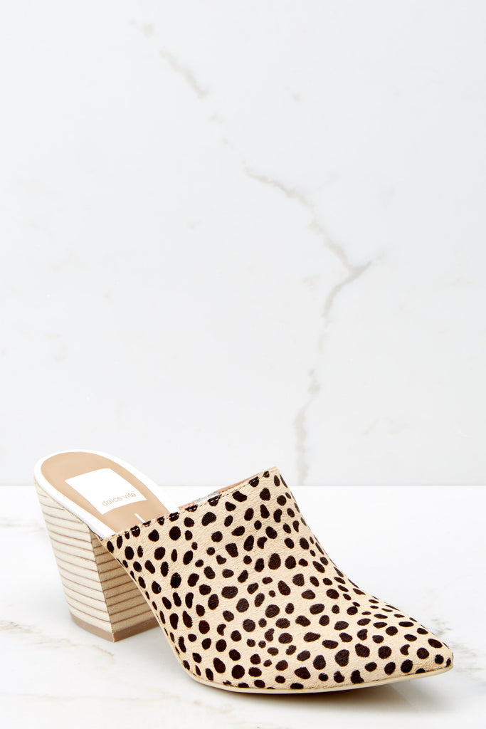 1 Bad Blood Cheetah Print Mule Slides at reddressboutique.com