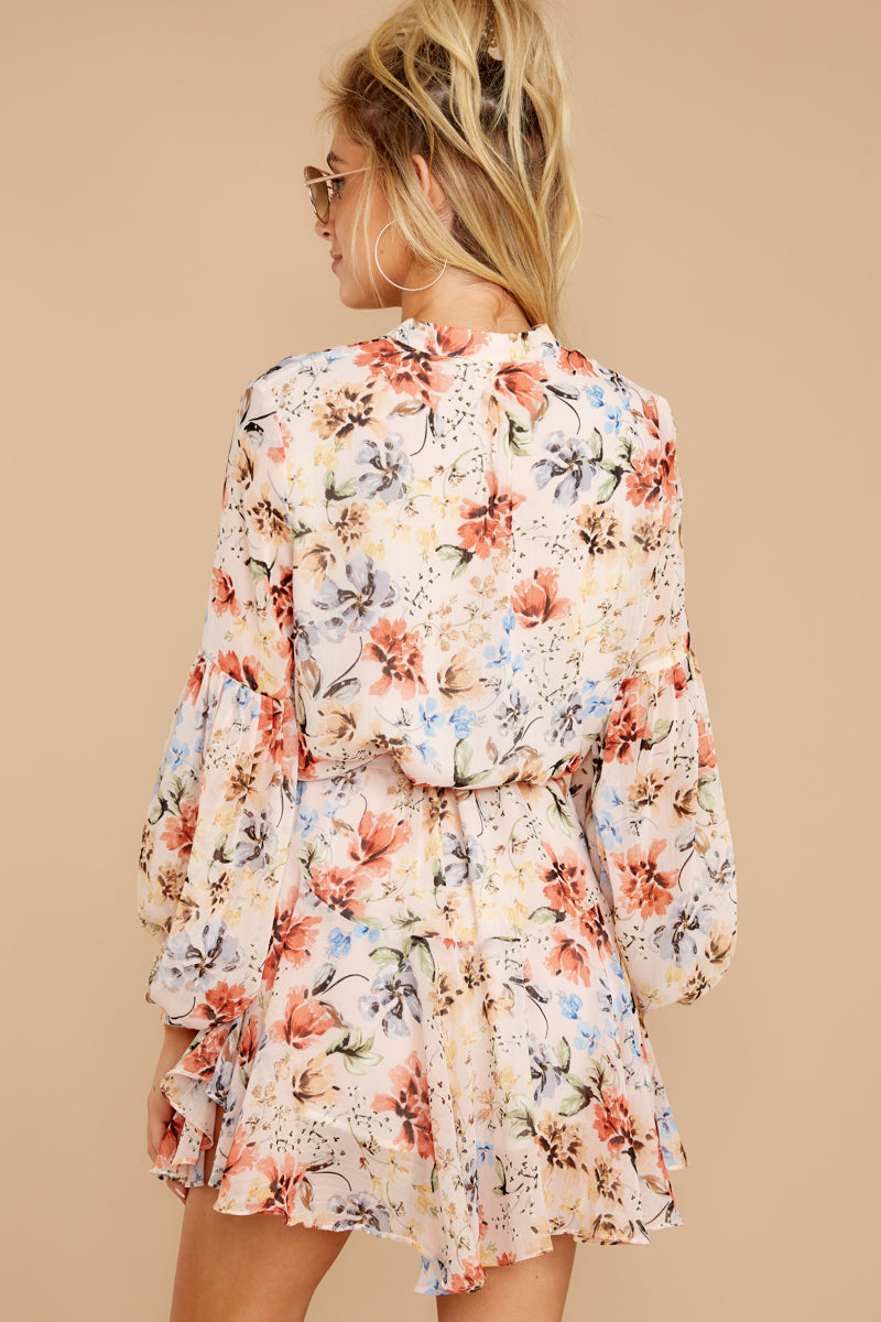 Let This Be Blush Pink Floral Print Dress