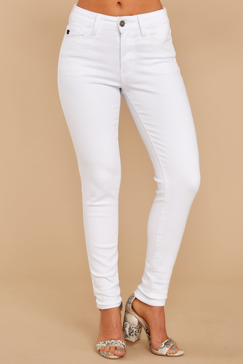 1 Rise Up White Petite Skinny Jeans at reddressboutique.com