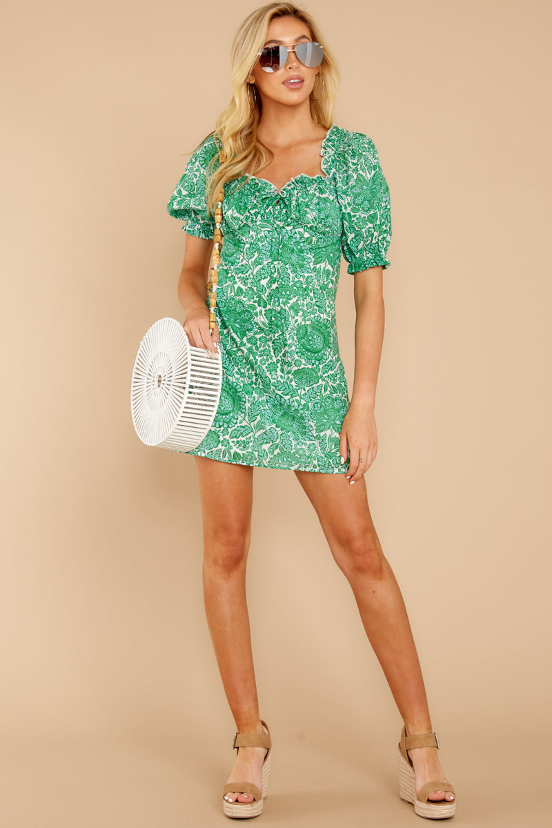 2 My Promenade Kelly Green Floral Print Dress at reddressboutique.com