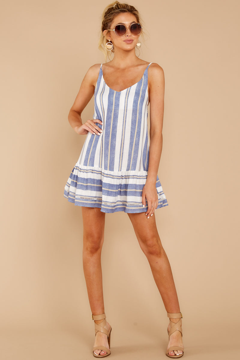 2 Making Changes Coastal Blue Stripe Dress at reddressboutique.com
