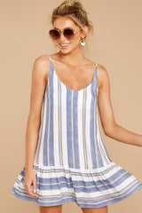 1 Making Changes Coastal Blue Stripe Dress at reddressboutique.com