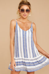 5 Making Changes Coastal Blue Stripe Dress at reddressboutique.com