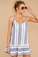 6 Making Changes Coastal Blue Stripe Dress at reddressboutique.com