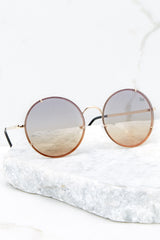 3 Dream In Color Brown To Orange Sunglasses at reddressboutique.com