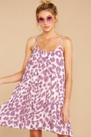 Animal Leopard Print Scoop Neck Shift V Back Pocketed Polyester Dress