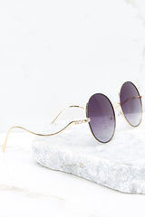 Sunday Sunnies Black To Purple Sunglasses