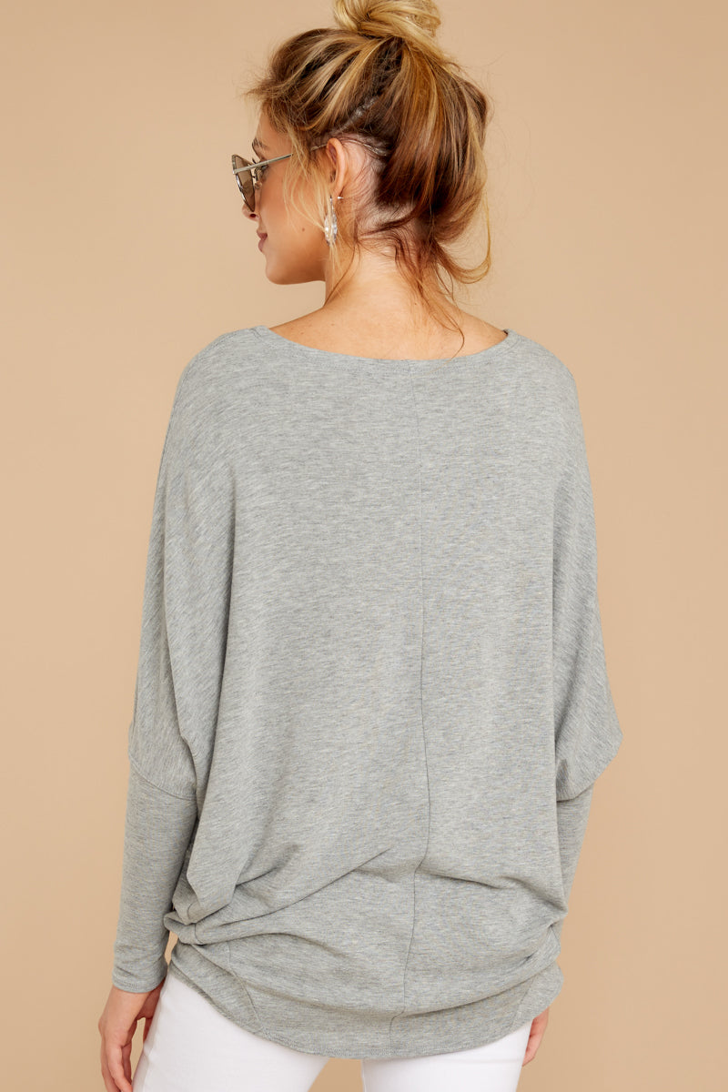 7 Take The Long Road Heather Grey Top at reddress.com