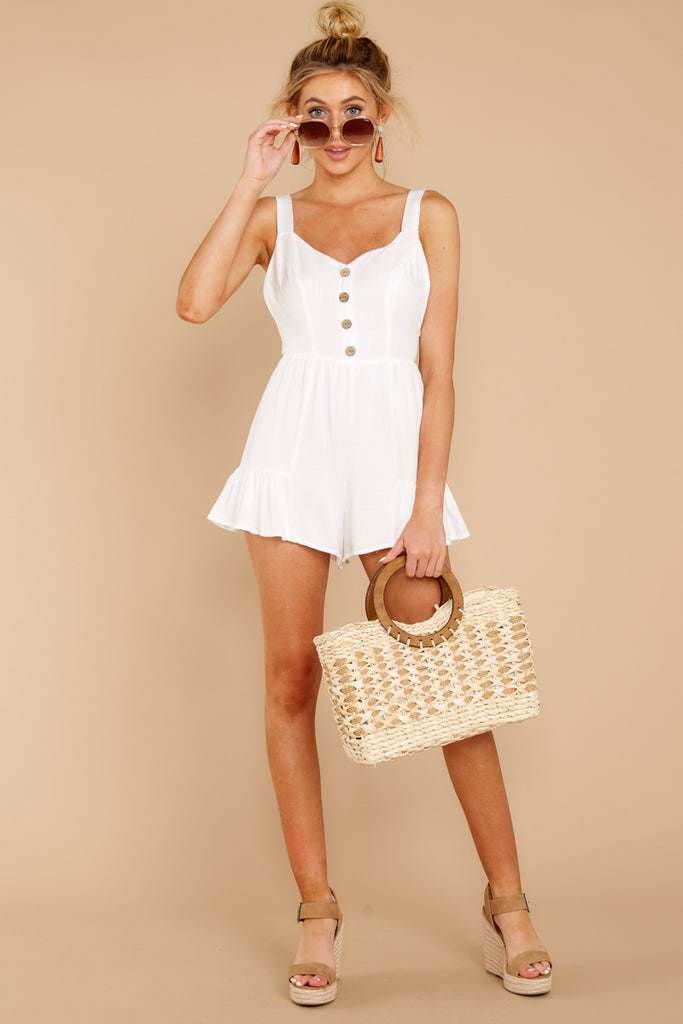 1 Worth Your While White Romper at reddressboutique.com