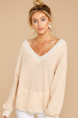 6 Good Advice Oatmeal Top at reddressboutique.com