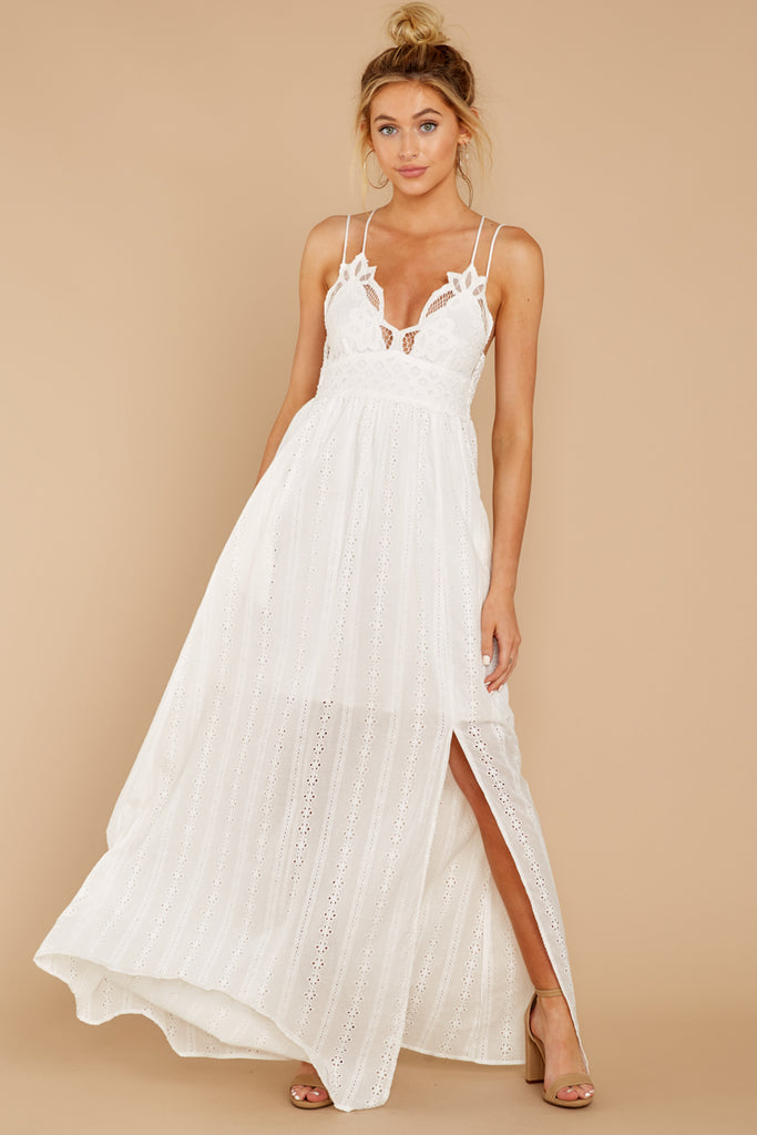 d59832553e3 More Than Special White Eyelet Maxi Dress (BACKORDER MAY)
