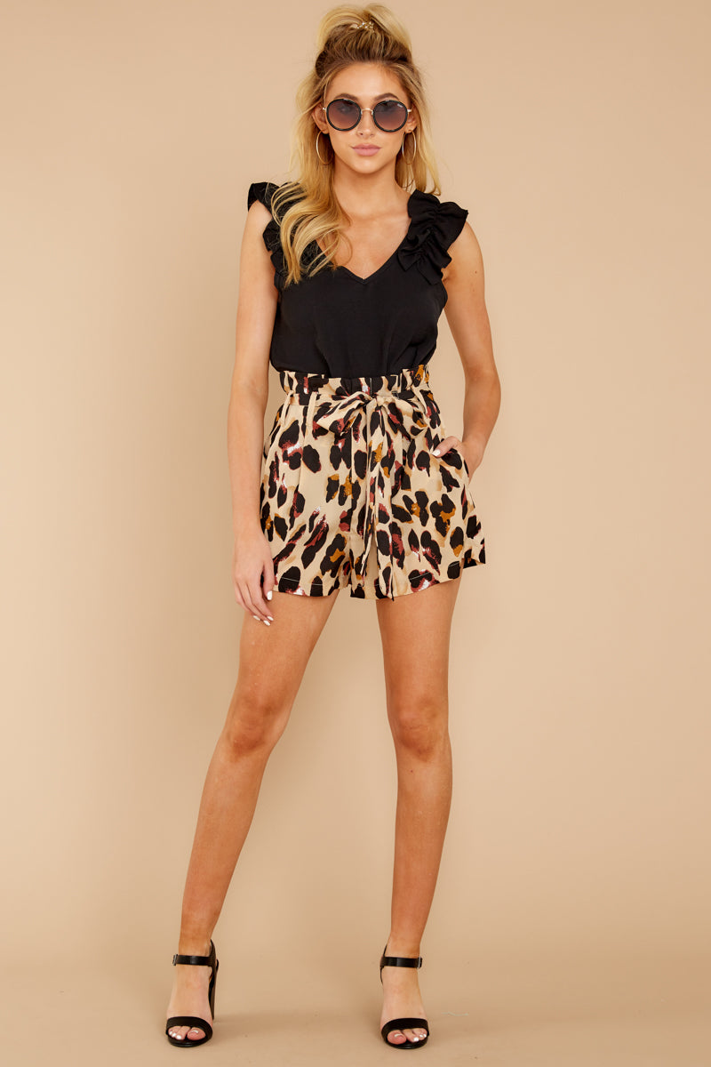 4 Right On Prowl Leopard Print Shorts at reddressboutique.com