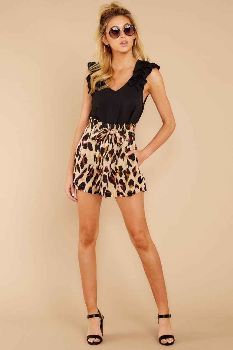 5 Right On Prowl Leopard Print Shorts at reddressboutique.com