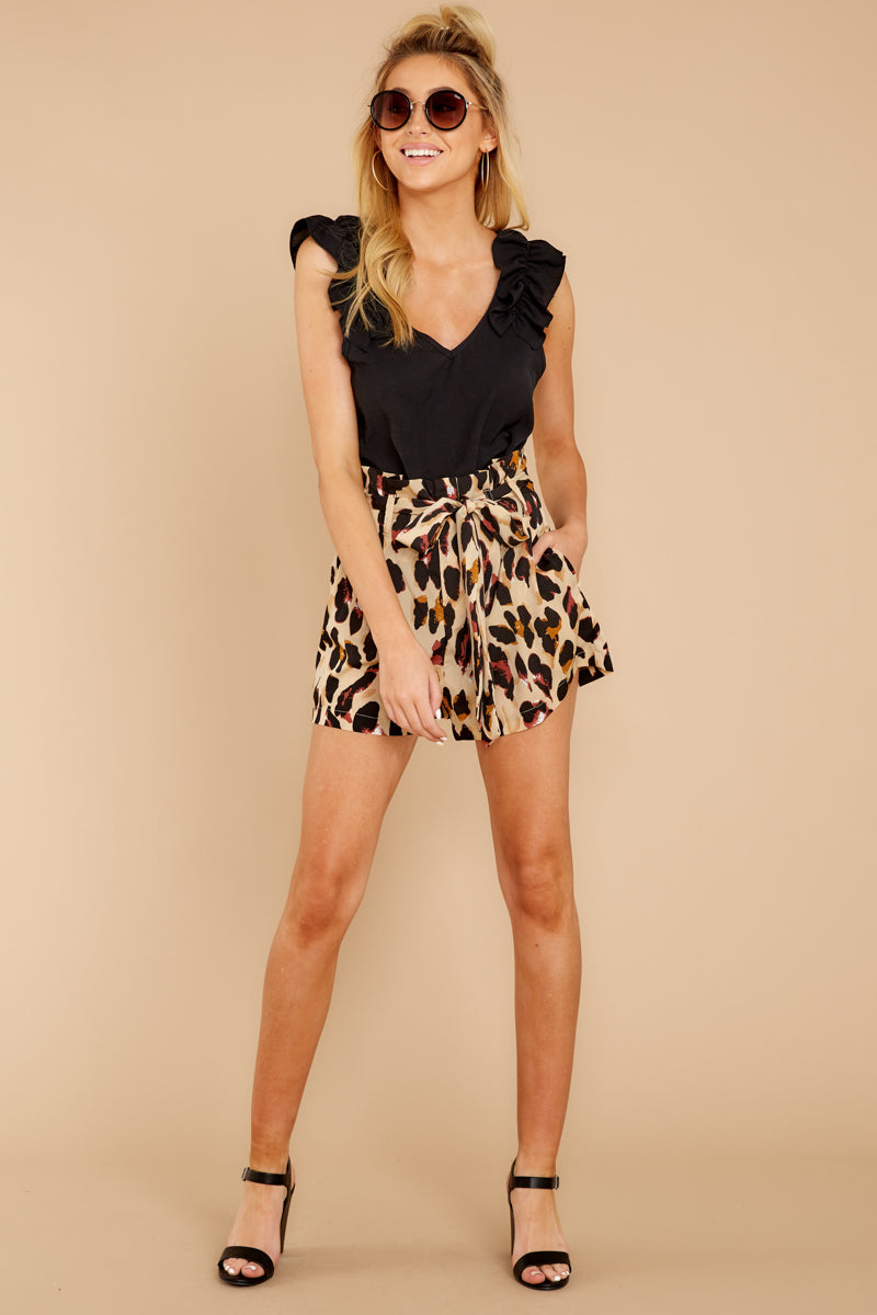 6 Right On Prowl Leopard Print Shorts at reddressboutique.com