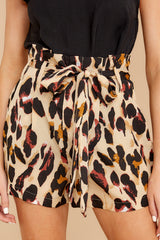 1 Right On Prowl Leopard Print Shorts at reddressboutique.com