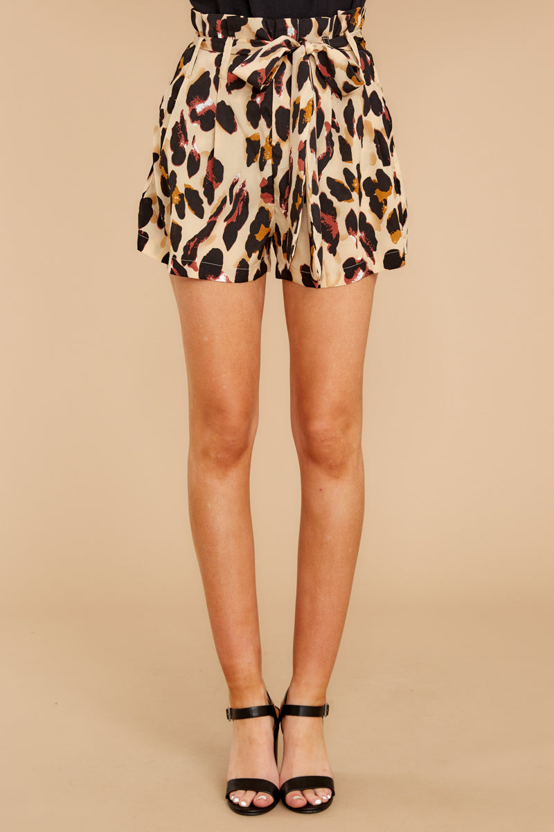 2 Right On Prowl Leopard Print Shorts at reddressboutique.com